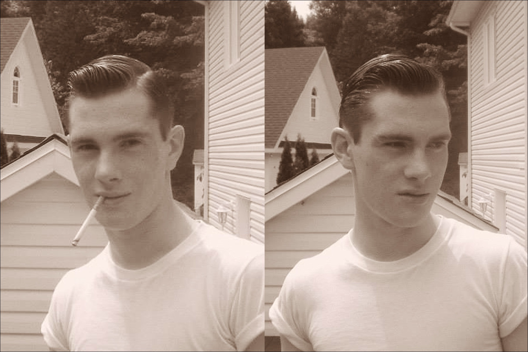 Young rockabilly Canadian musician Mr. Lew Phillips. Ponyboy magazine NY.