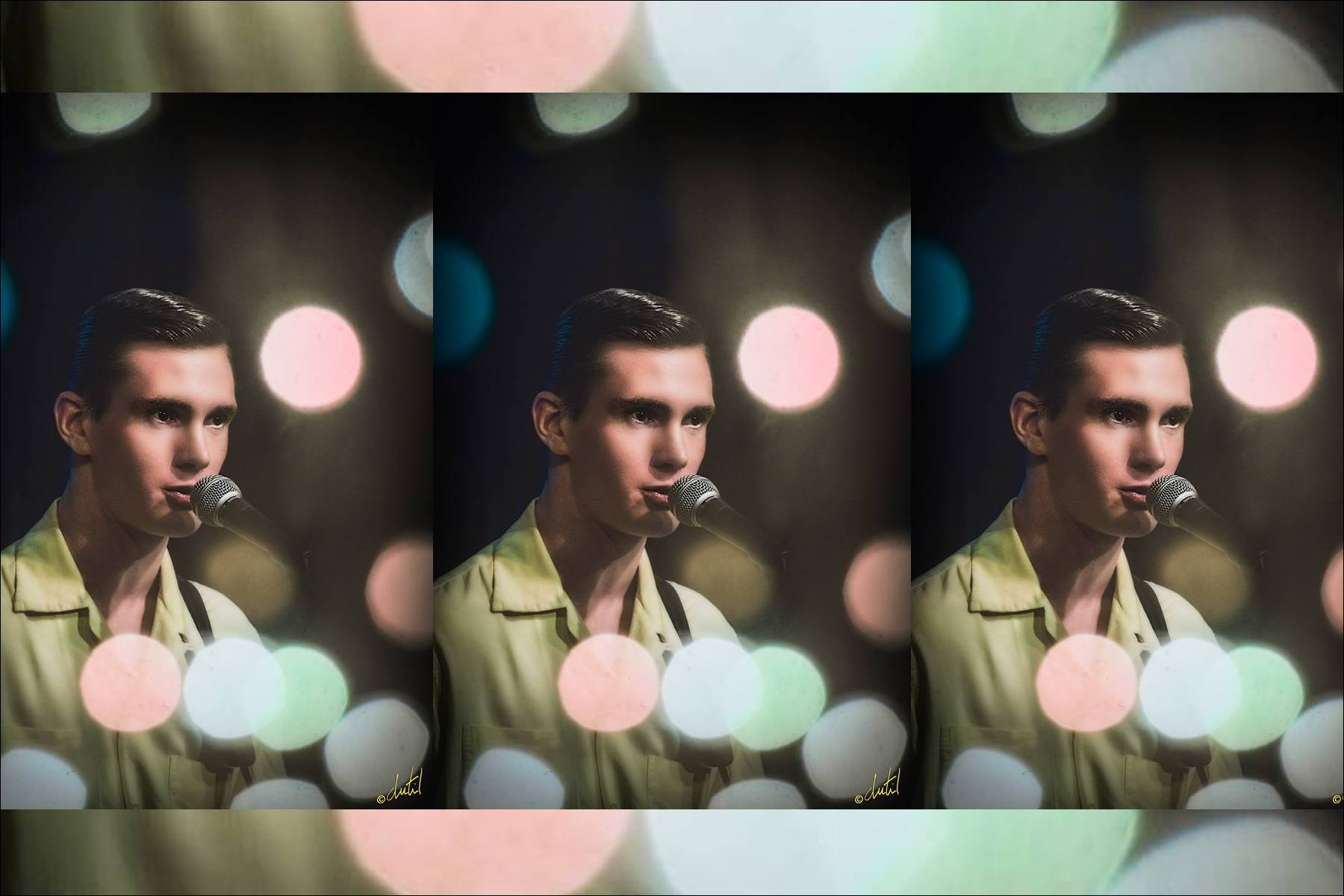 50s inspired images of musician Lew Phillips. Ponyboy magazine NY.