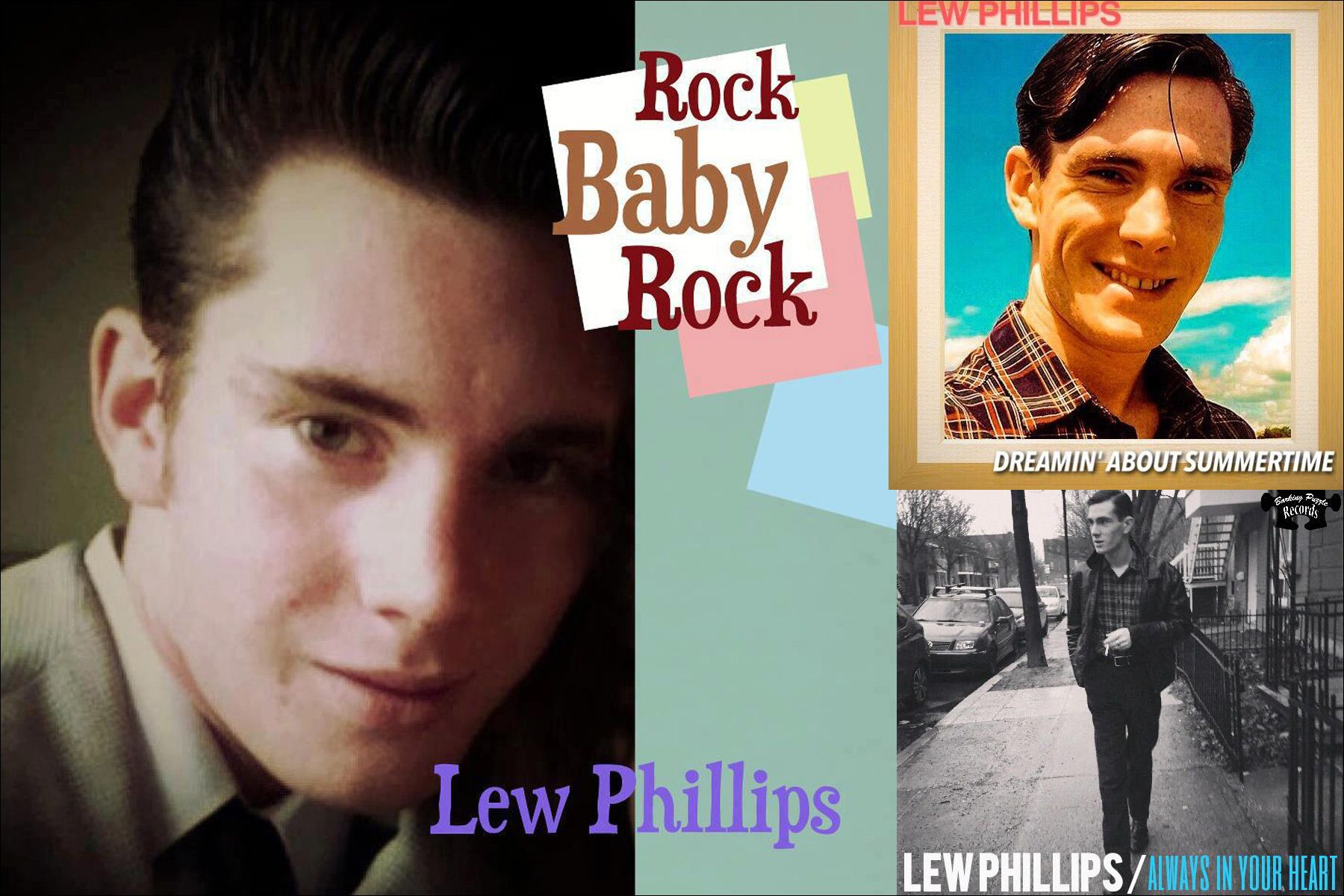Tearsheets of Canadian musician Lew Phillips. Ponyboy magazine NY.