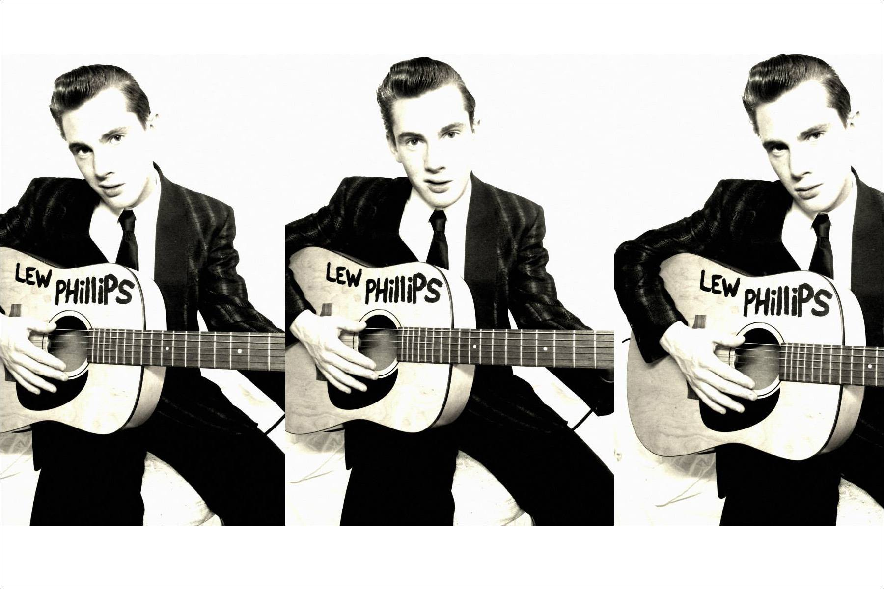 B&W photos of musician Lew Phillips. Ponyboy magazine NY.