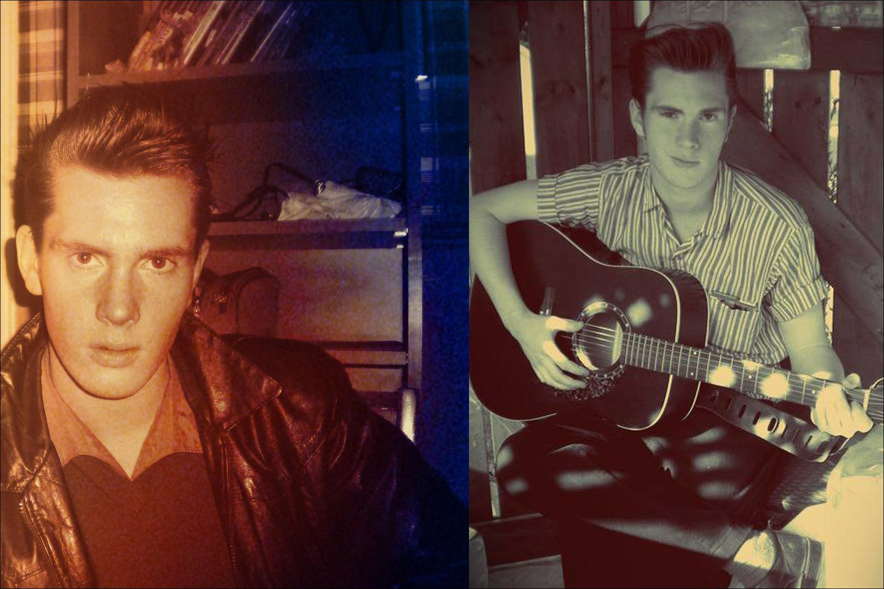 The young rockabilly musician know as Mr. Lew Phillips from Montreal Canada. Ponyboy magazine NY.