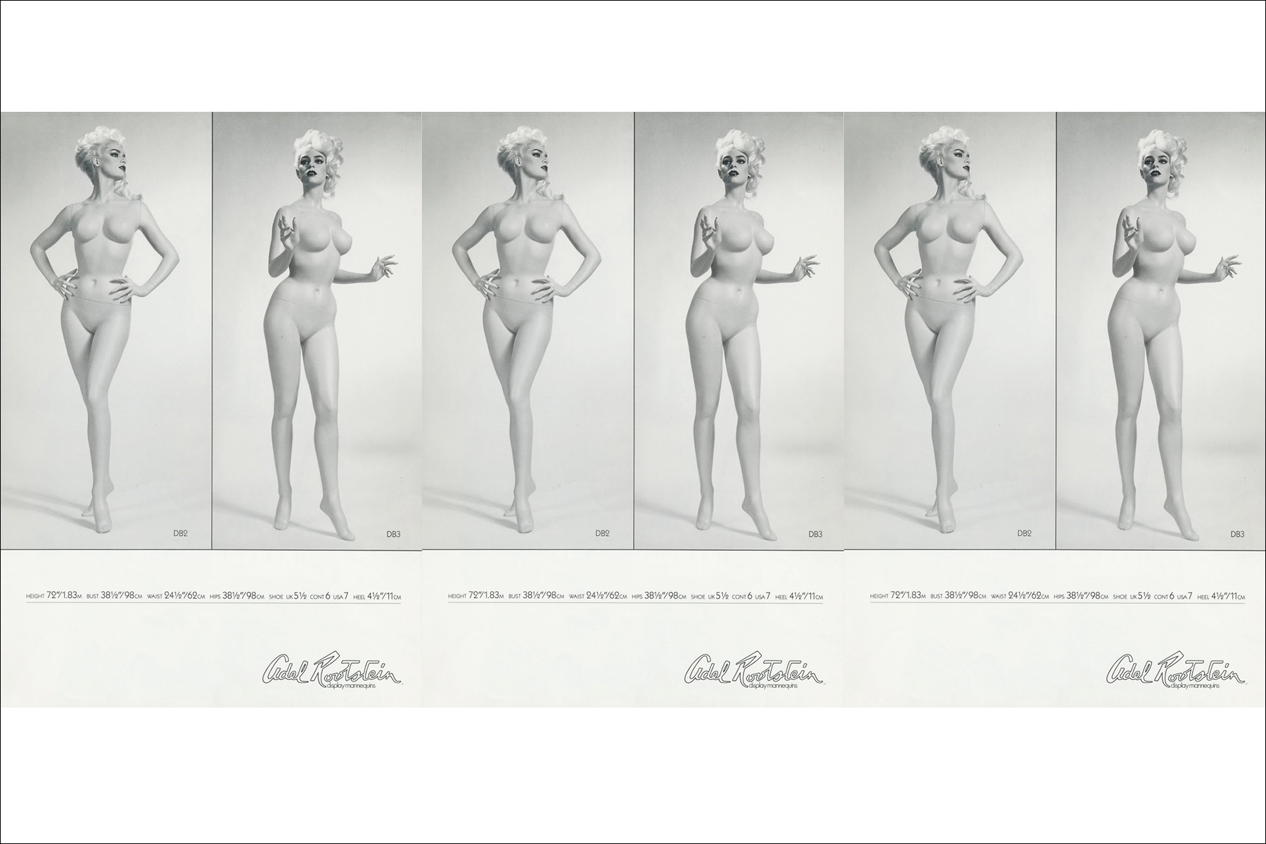 Dianne Brill for Adel Rootstein mannequinn's. Ponyboy magazine NY.