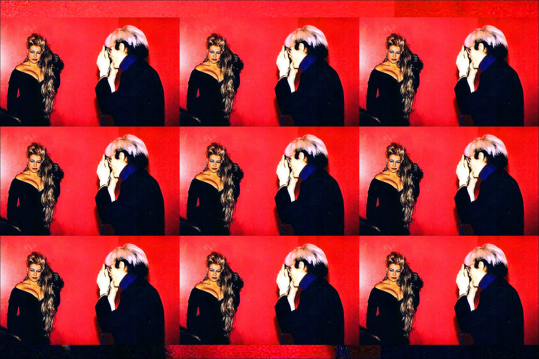 Dianne Brill being photographed by Andy Warhol. Ponyboy magazine New York.