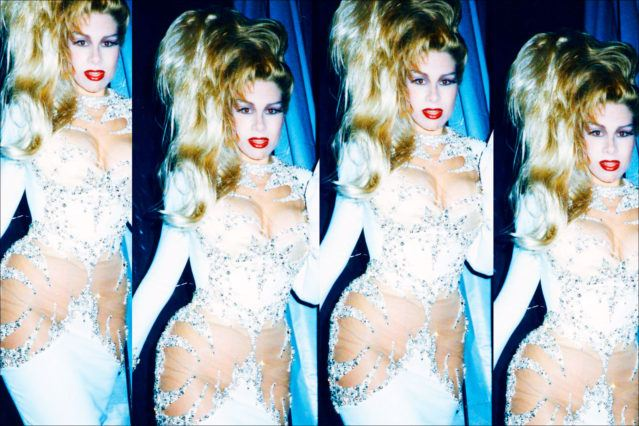 Party girl Dianne Brill photographed backstage at Thierry Mugler in Paris. Ponyboy magazine.