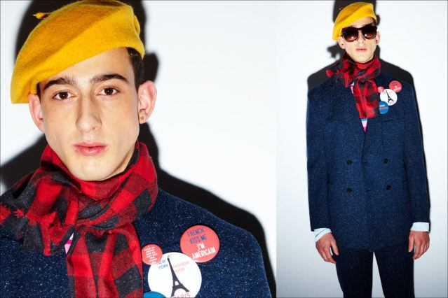 Model Drini Korca photographed at David Hart F/W18 menswear show by Alexander Thompson for Ponyboy magazine.