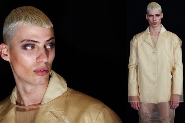 Next agency model Roman Kerekes-Shaw for Luar Fall 2018. Photography by Alexander Thompson for Ponyboy magazine.