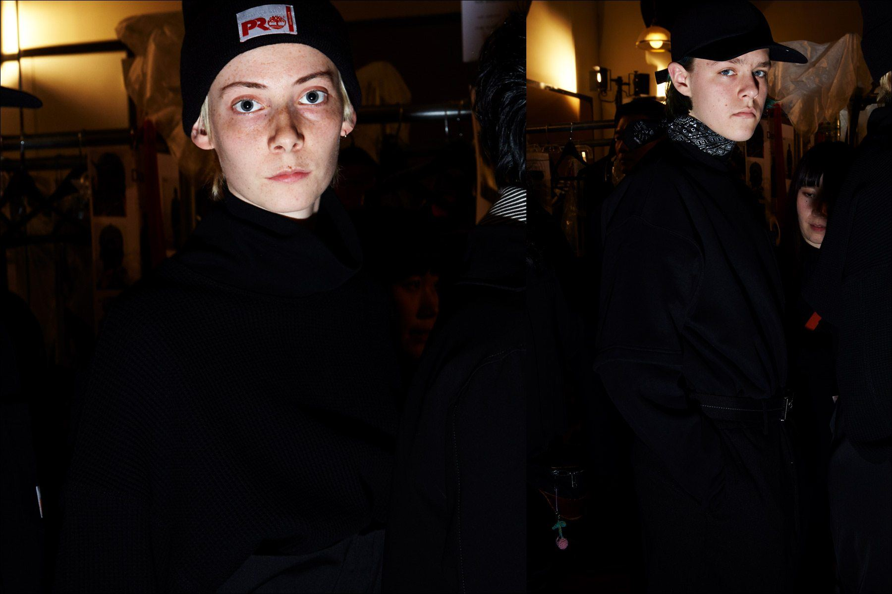 Models snapped backstage at N. Hoolywood for Fall 2018. Photography by Alexander Thompson for Ponyboy magazine.