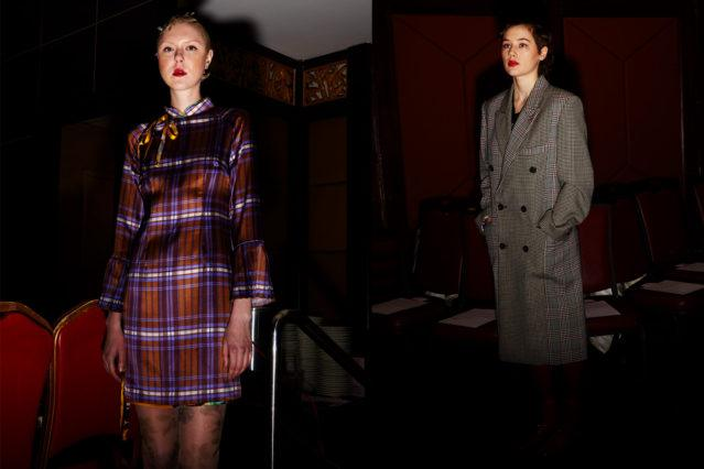 Models pose pre-show at Snow Xue Gao F/W18 collection. Photographed by Alexander Thompson for Ponyboy magazine.