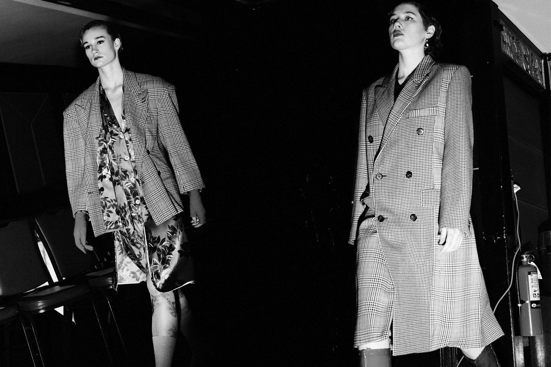 Models walk pre-show at Snow Xue Gao F/W18 collection during New York Fashion Week. Photographed by Alexander Thompson for Ponyboy magazine.