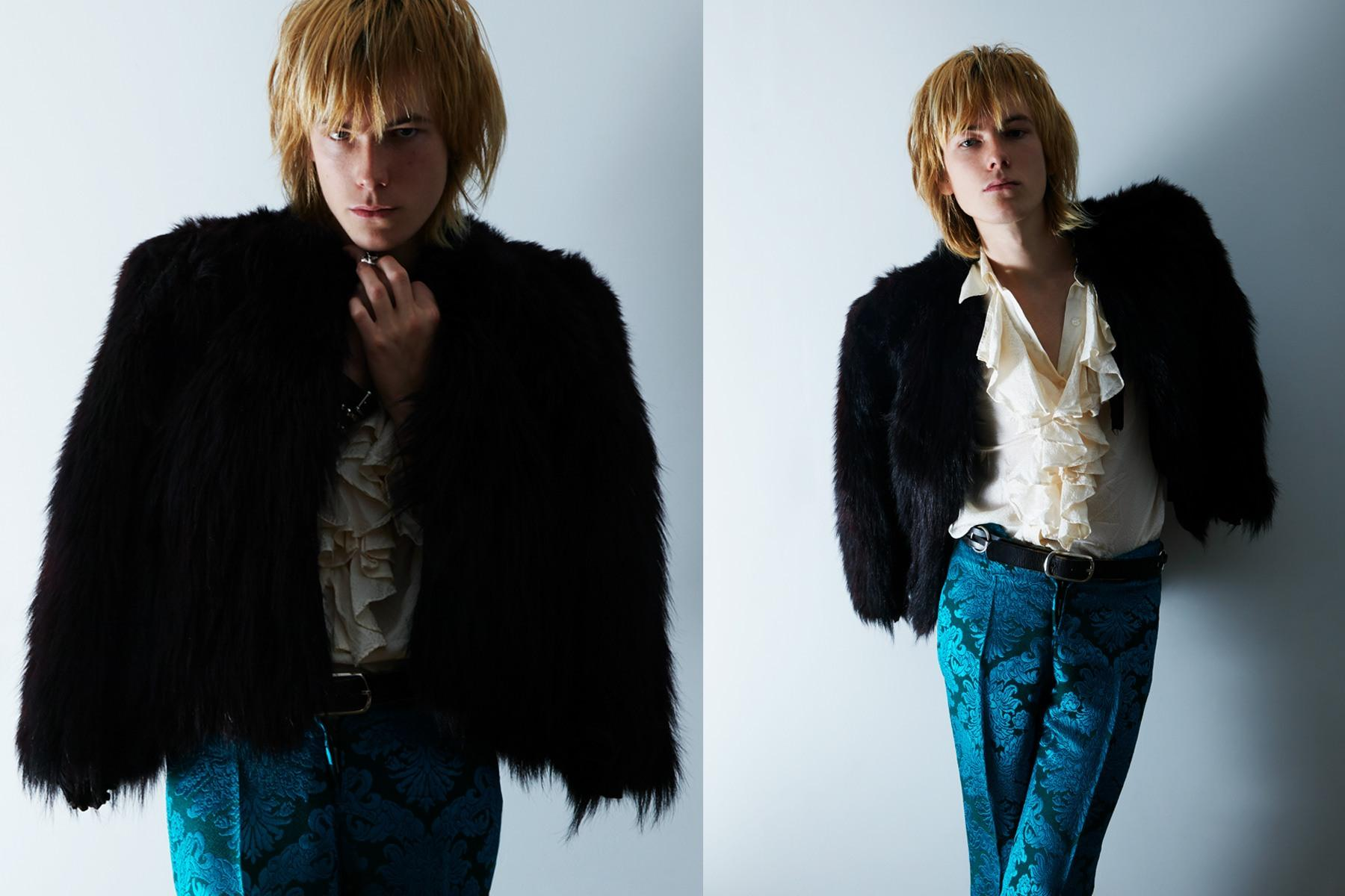 Sid Simons, from the band Beechwood, styled by Amber Doyle, with photography by Alexander Thompson for Ponyboy magazine.