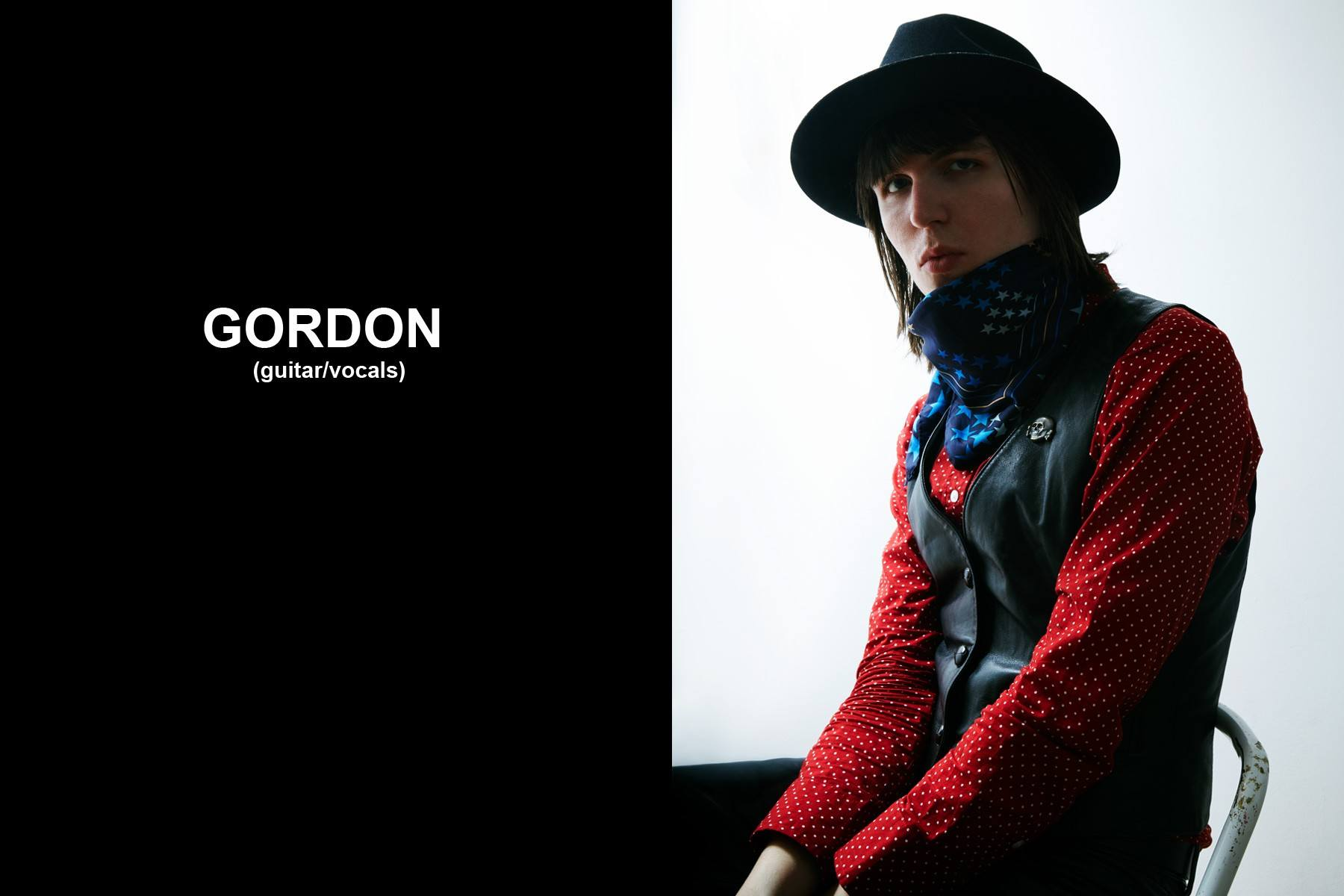 Gordon Lawrence, guitar/vocals, Beechwood band. Photographed by Alexander Thompson for Ponyboy magazine.