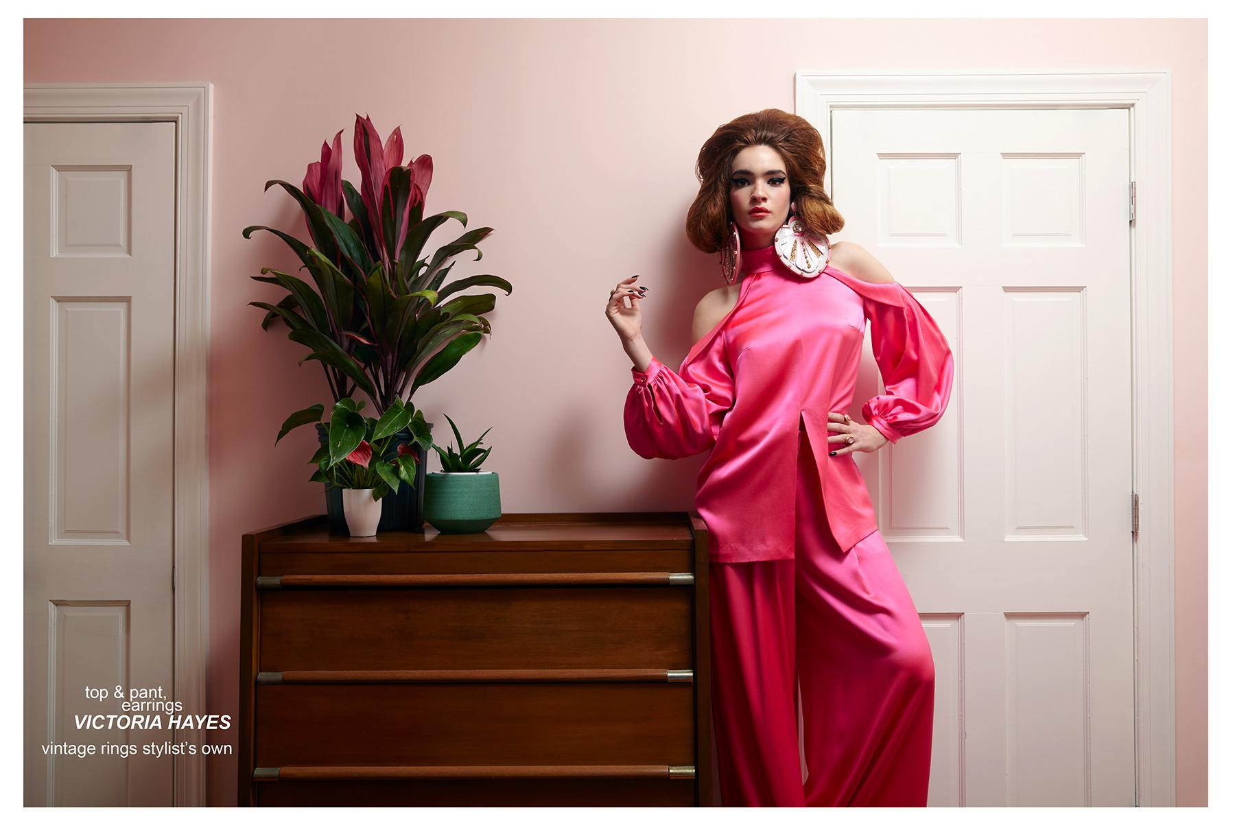 Red-headed beauty Liv Solo, from Wilhelmina NY, stars in