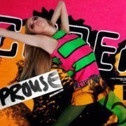 Wilhelmina model Jamie Vogt photographed in a vintage 80s Stephen Sprouse Hardcore 1988 day-glo print dress. Photography by Alexander Thompson for Ponyboy magazine.