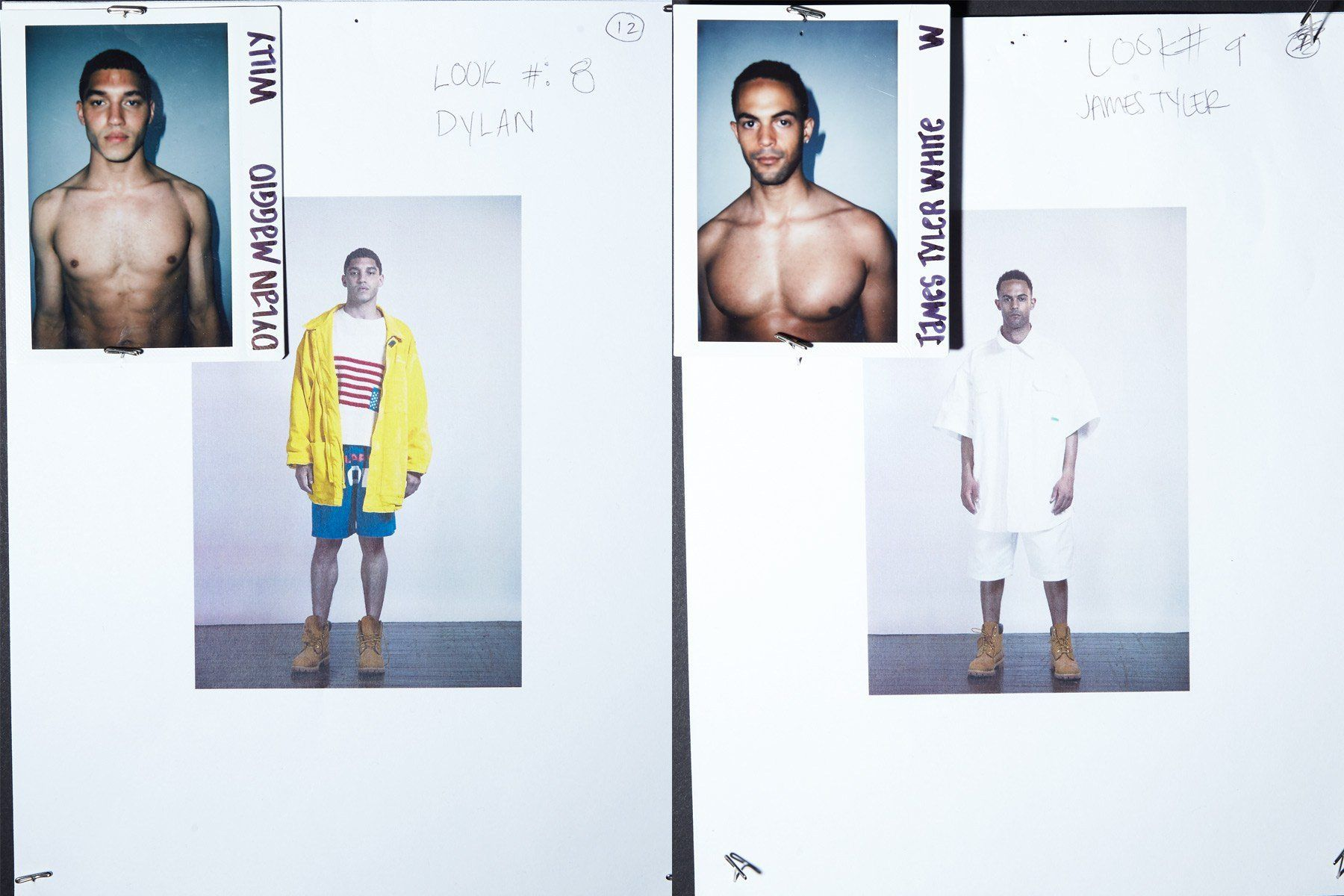 Backstage looks for male models Dylan Maggio and James Tyler White for Willy Chavarria Spring 2019. Ponyboy magazine.