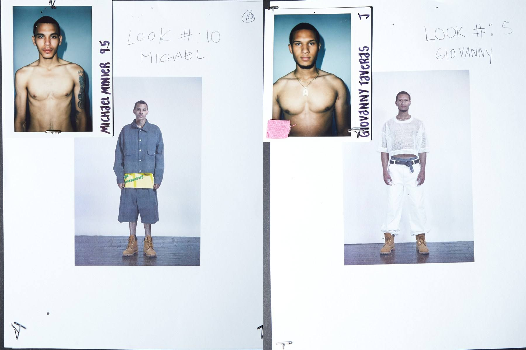 Backstage looks for male models Michael Minier and Giovanny Taveras for Willy Chavarria Spring 2019. Ponyboy magazine.