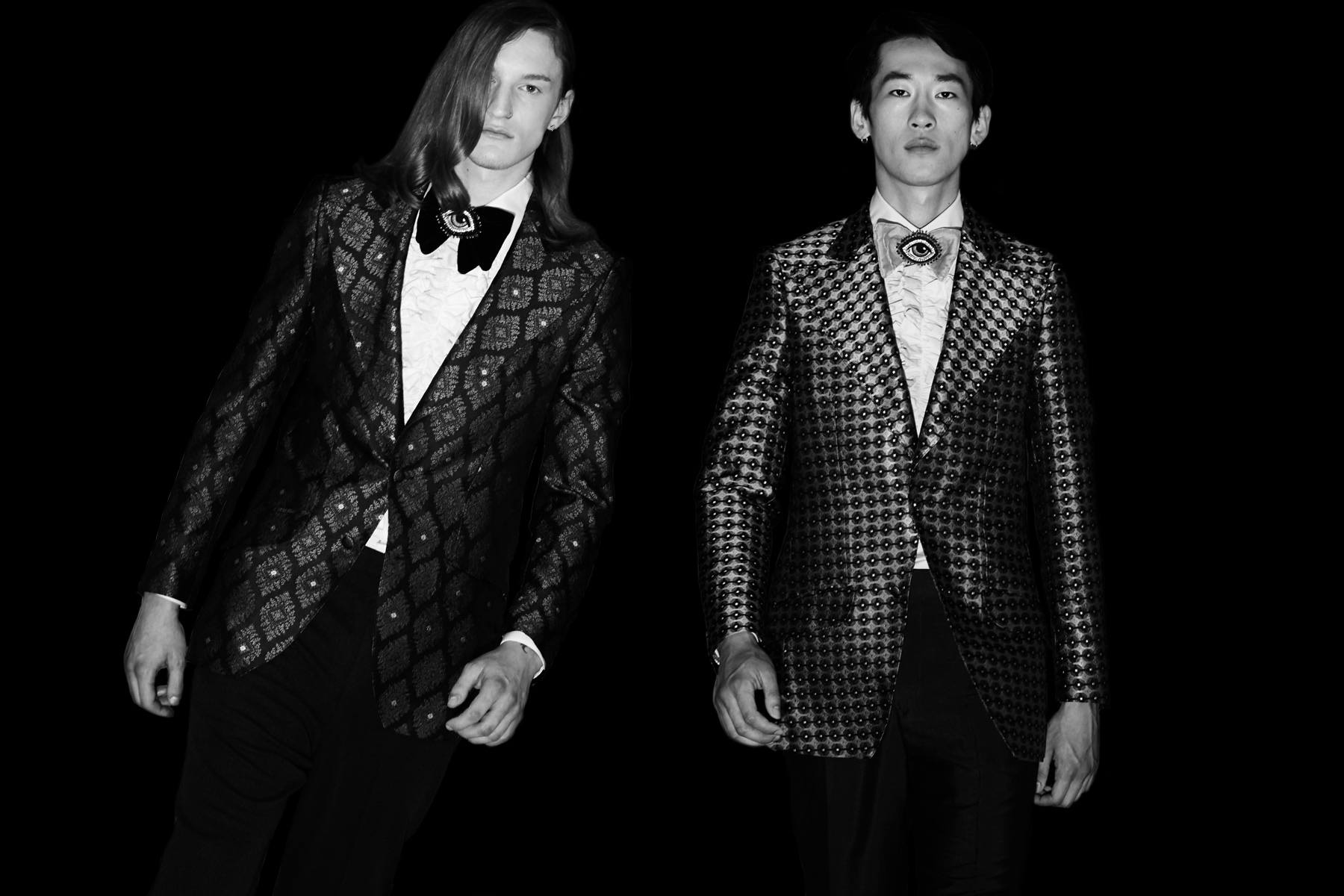 Tuxedos at David Hart for Spring/Summer 2019. Photography by Alexander Thompson for Ponyboy magazine.