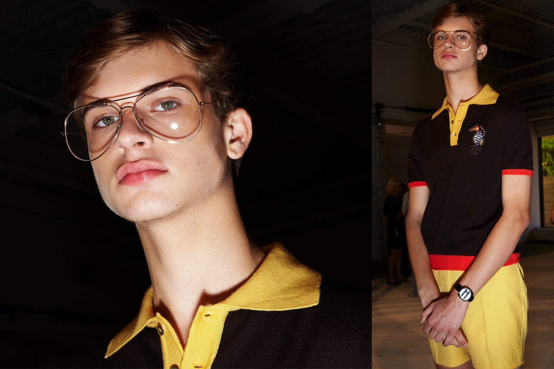 Aiden Marceron at David Hart for Spring/Summer 2019. Photography by Alexander Thompson for Ponyboy magazine.