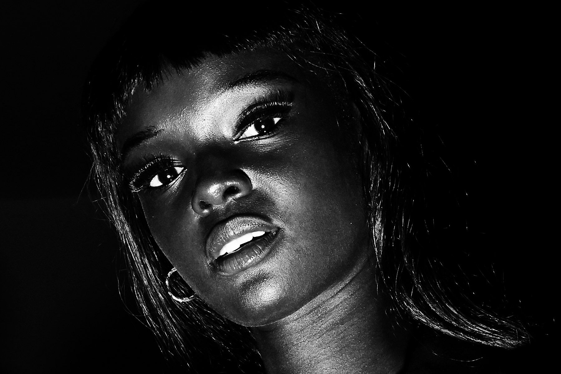 Model Duckie Thot snapped backstage at the Christian Cowan Spring/Summer 2019 show. Photography by Alexander Thompson for Ponyboy magazine.