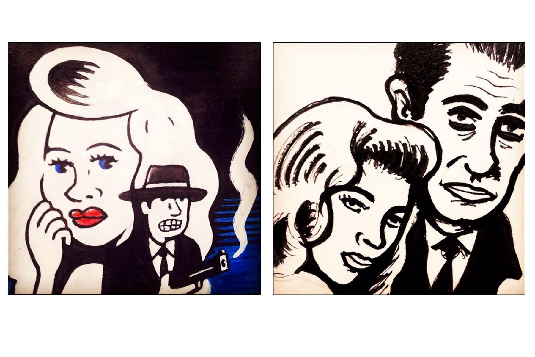 Humphrey Bogart & Lauren Bacall by Avi Spivak. Ponyboy magazine.