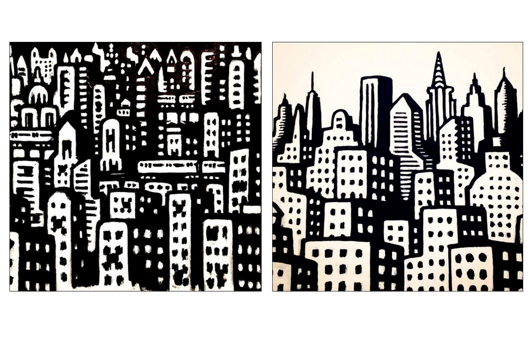 Cityscapes by NYC artist Avi Spivak. Ponyboy magazine.