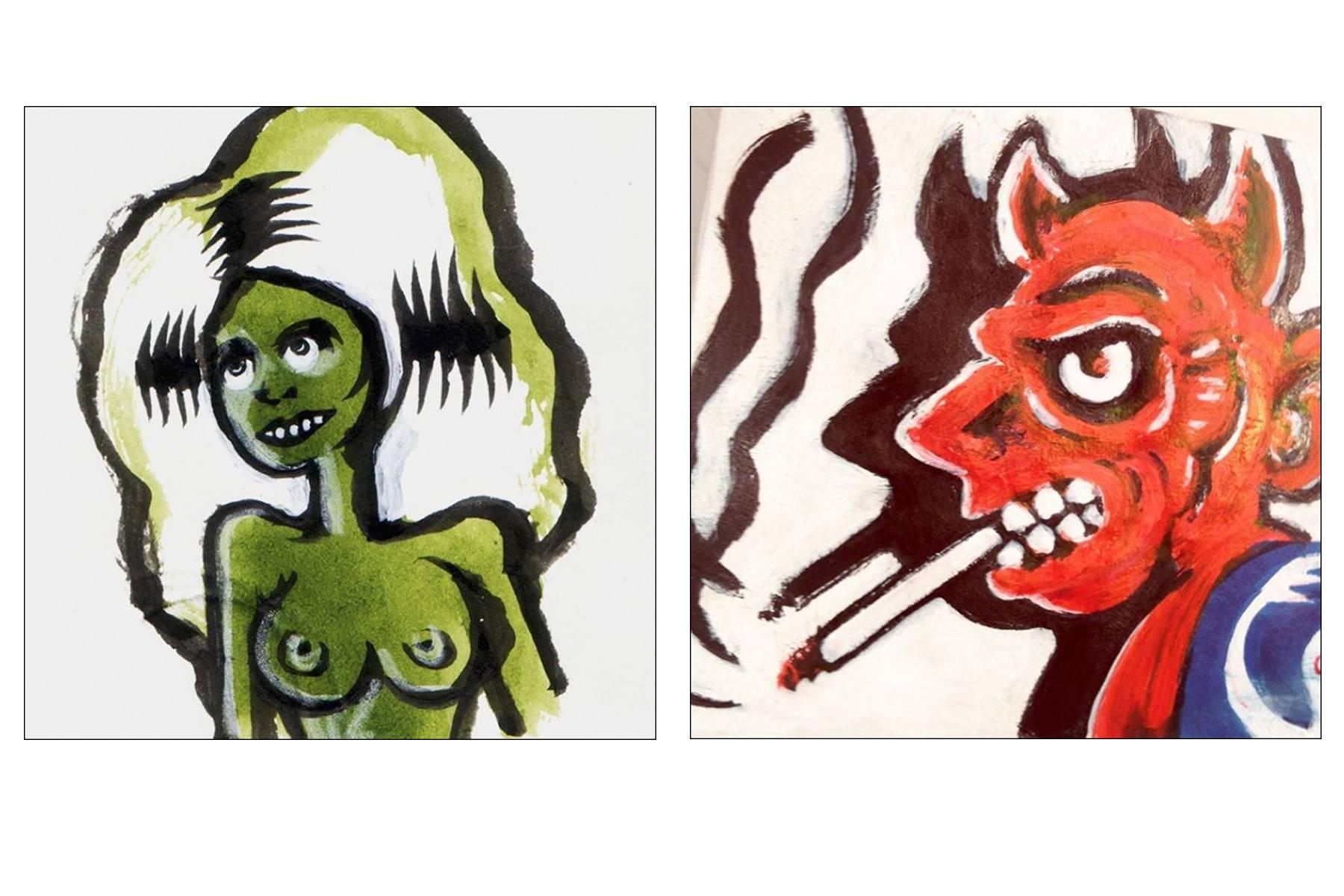 Creepy drawings by artist Avi Spivak. Ponyboy magazine.
