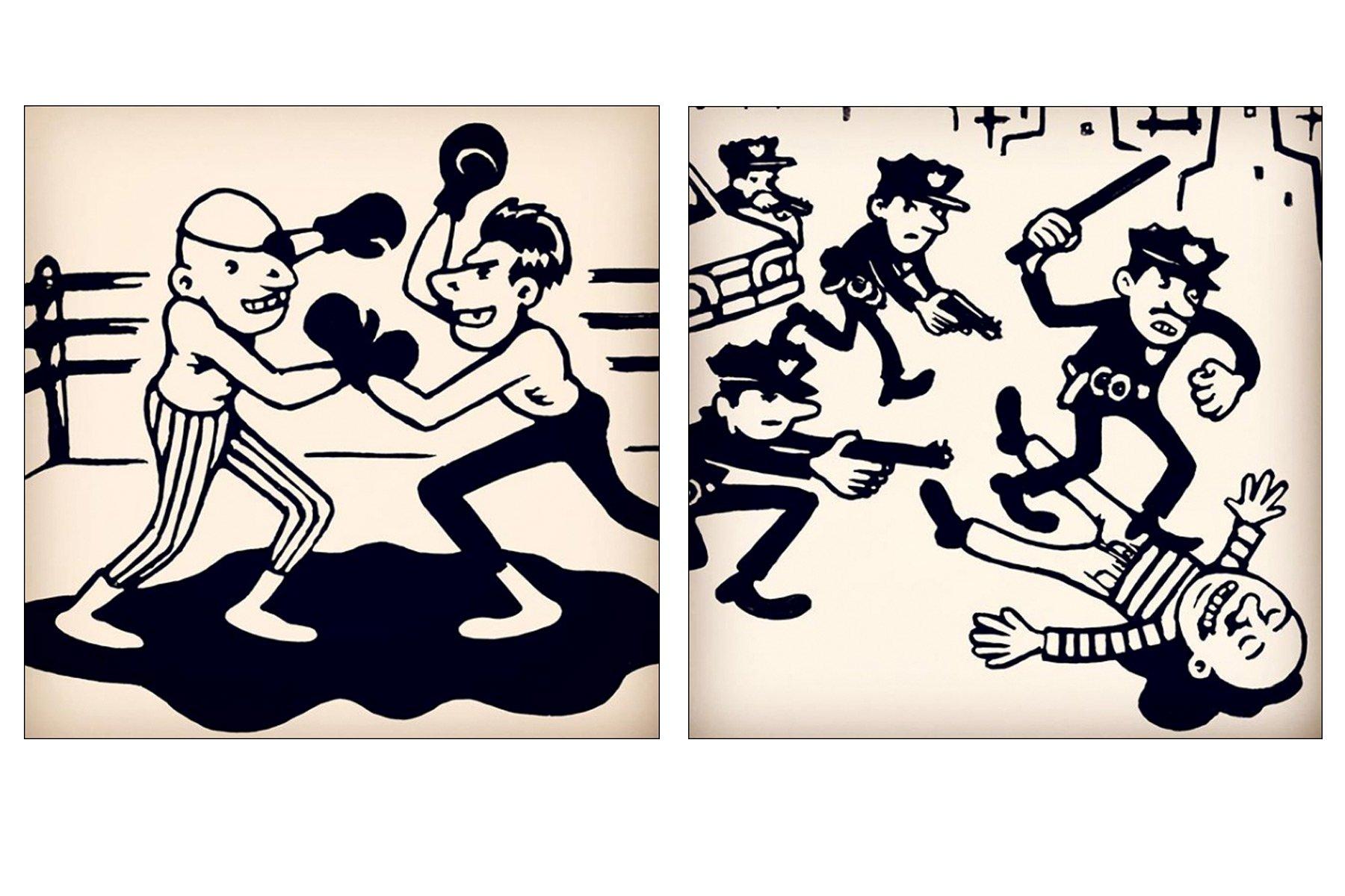 Drawings by NYC artist Avi Spivak. Ponyboy magazine.