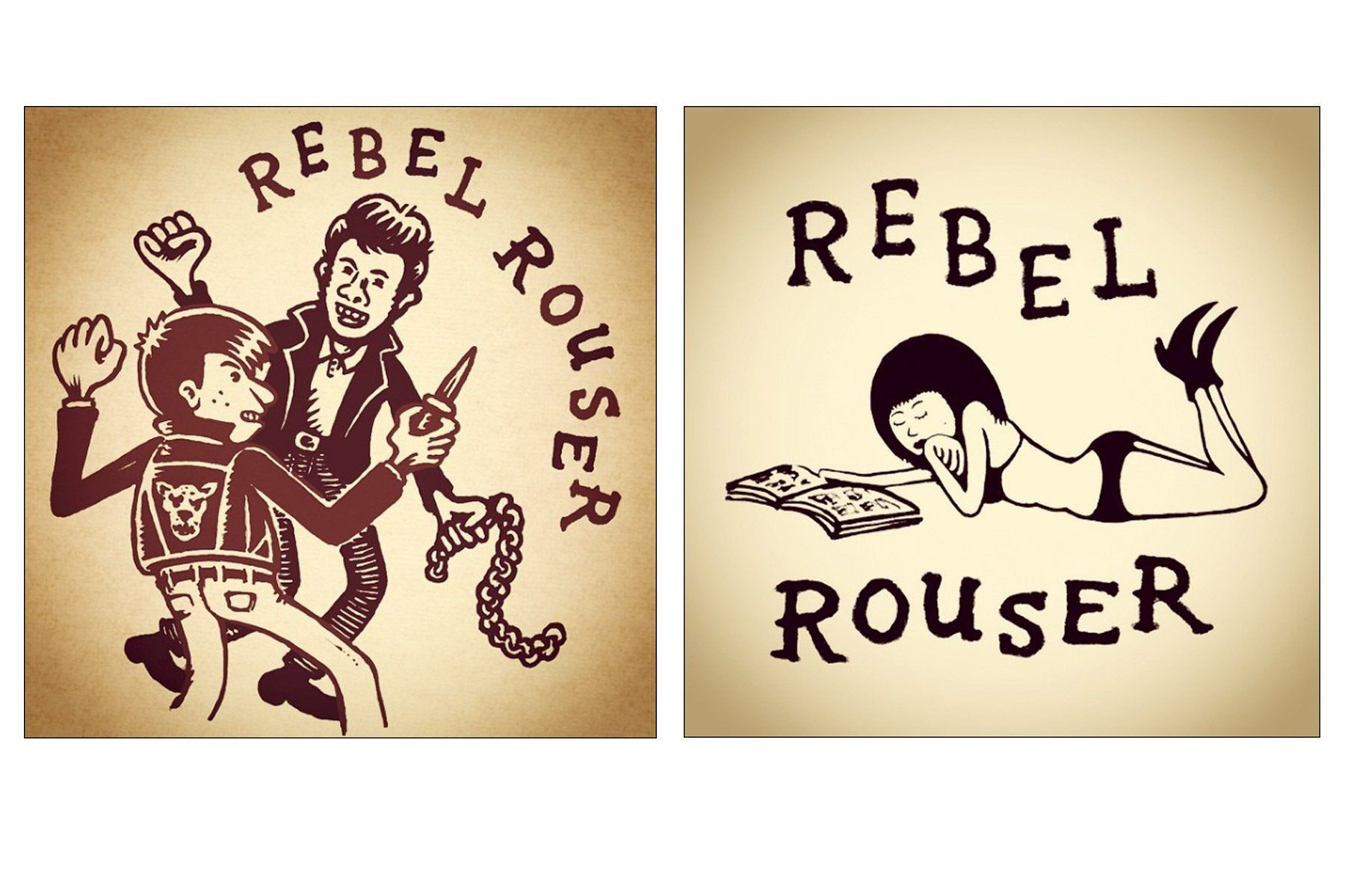 Rebel Rouser drawings by artist Avi Spivak. Ponyboy magazine.