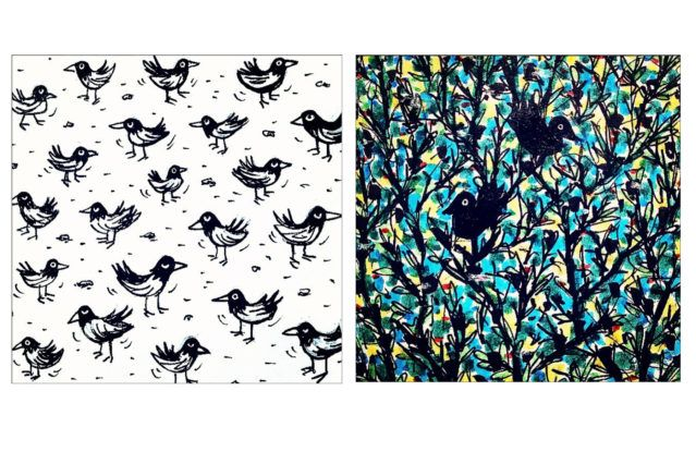 Bird drawings by artist Avi Spivak. Ponyboy magazine.