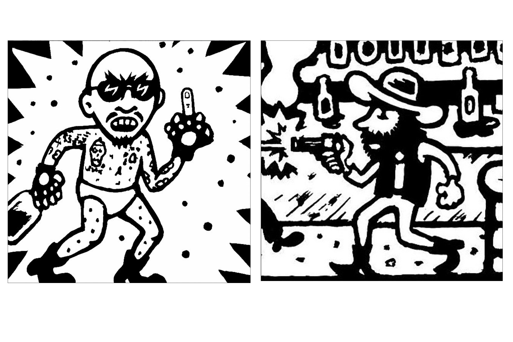 Drawings by artist Avi Spivak. Ponyboy magazine.