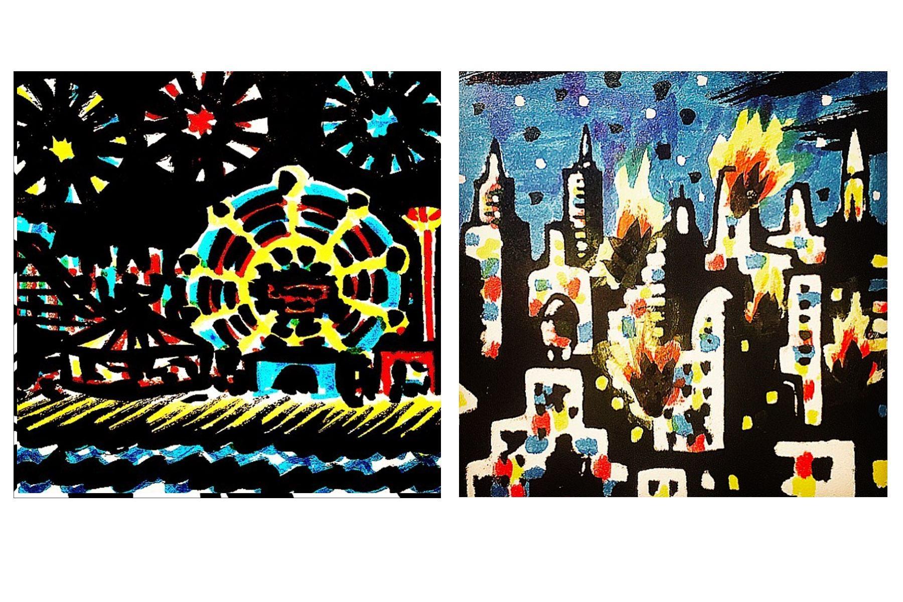 Abstract cityscapes by Brooklyn artist Avi Spivak. Ponyboy magazine.