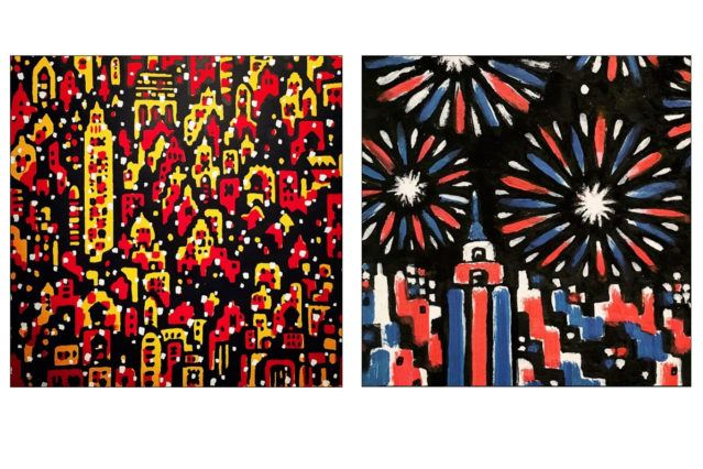 Abstract drawings of NYC by artist Avi Spivak. Ponyboy magazine.