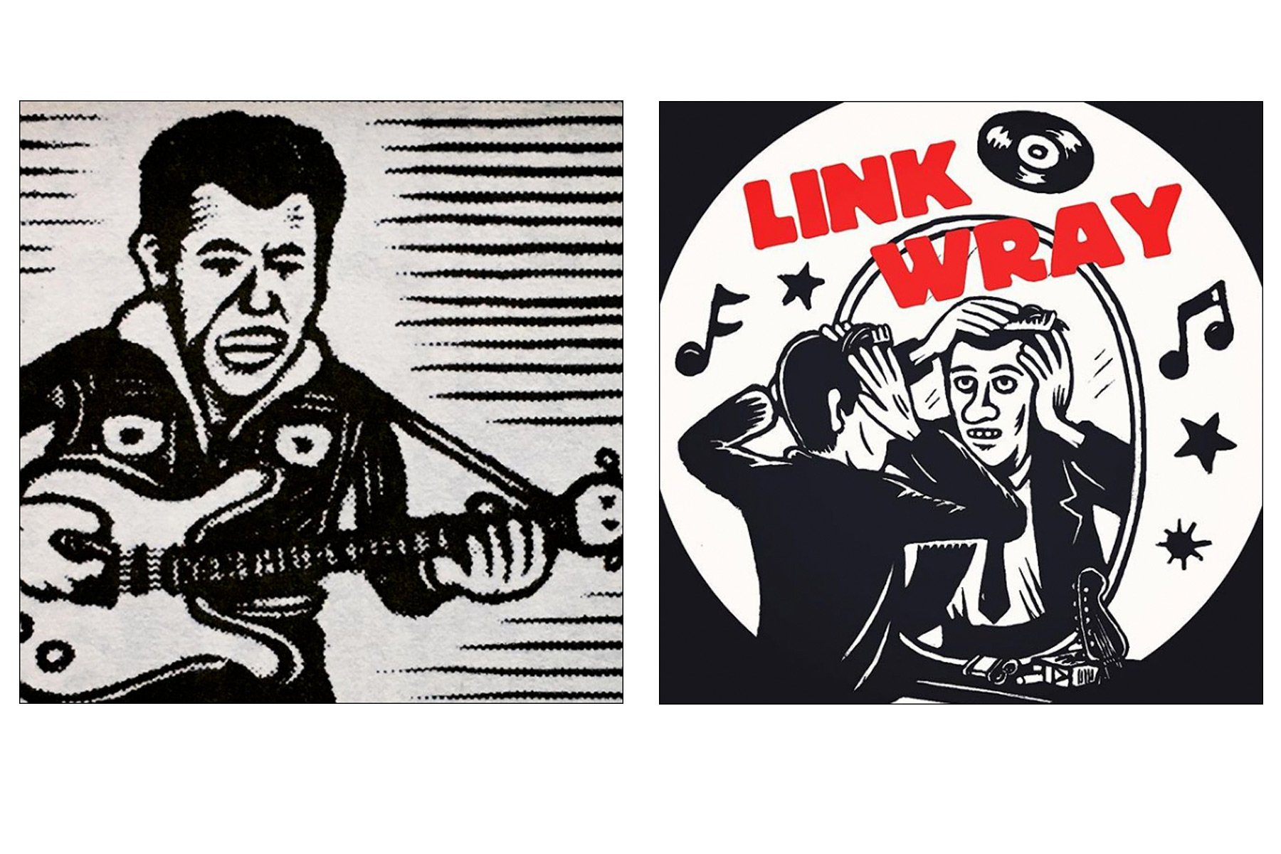 Link Wray drawings by artist Avi Spivak. Ponyboy magazine.