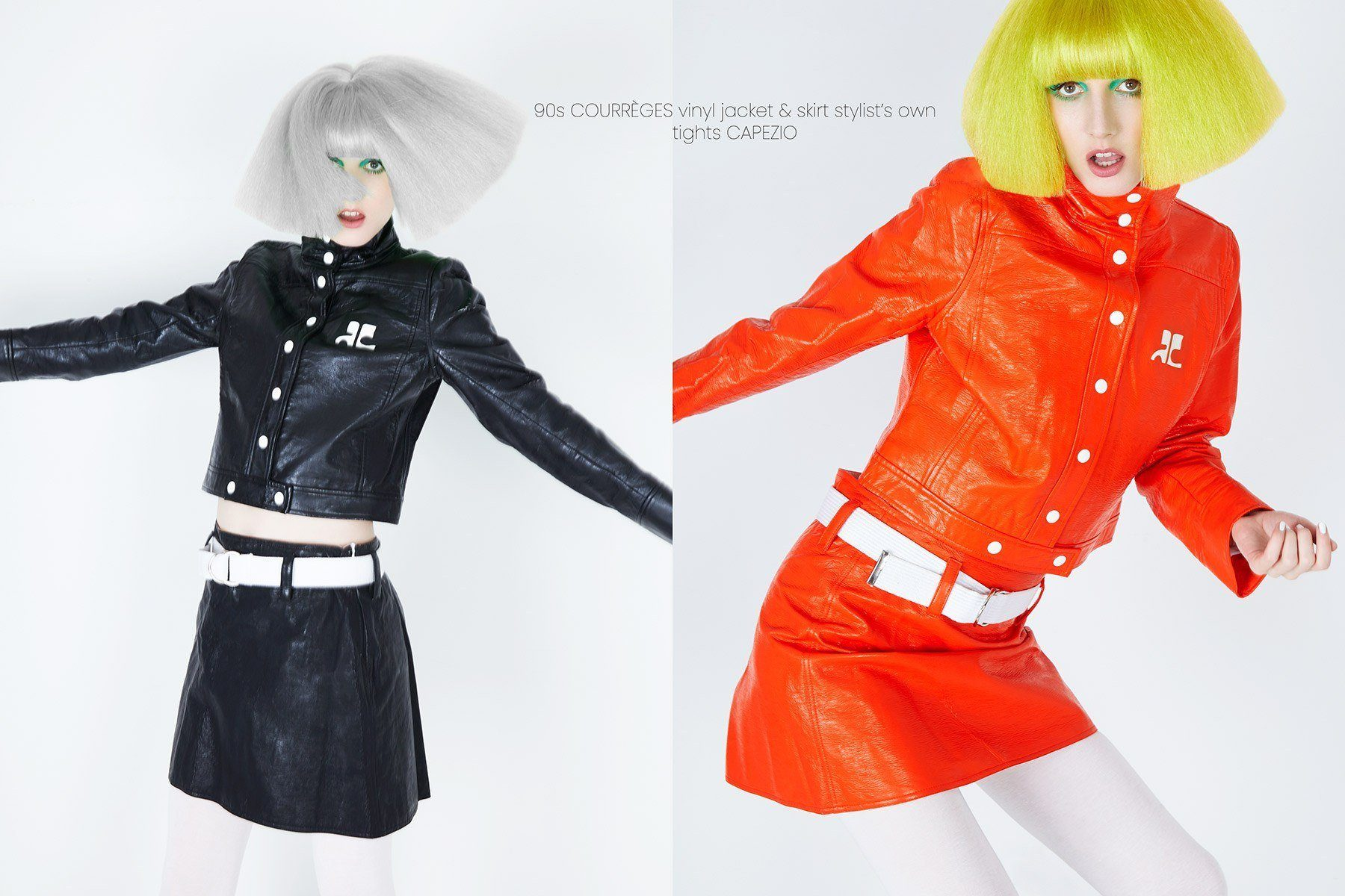 Stella Rose Saint Clair wears a vintage Courrèges vinyl suit. Photographed by Alexander Thompson for Ponyboy magazine.