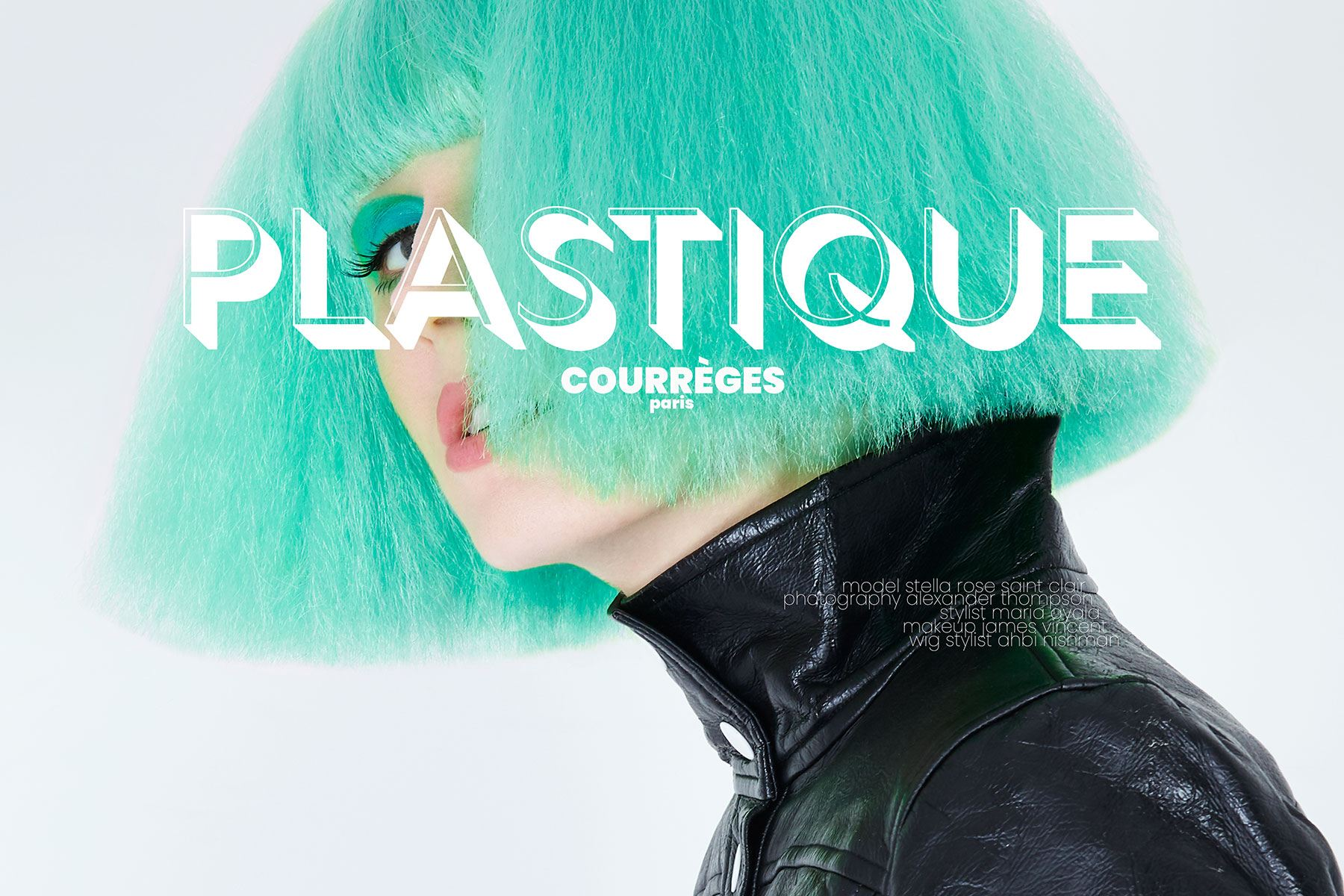 Plastique Courrèges starring model Stella Rose Saint Clair. Photographed by Alexander Thompson for Ponyboy magazine New York.