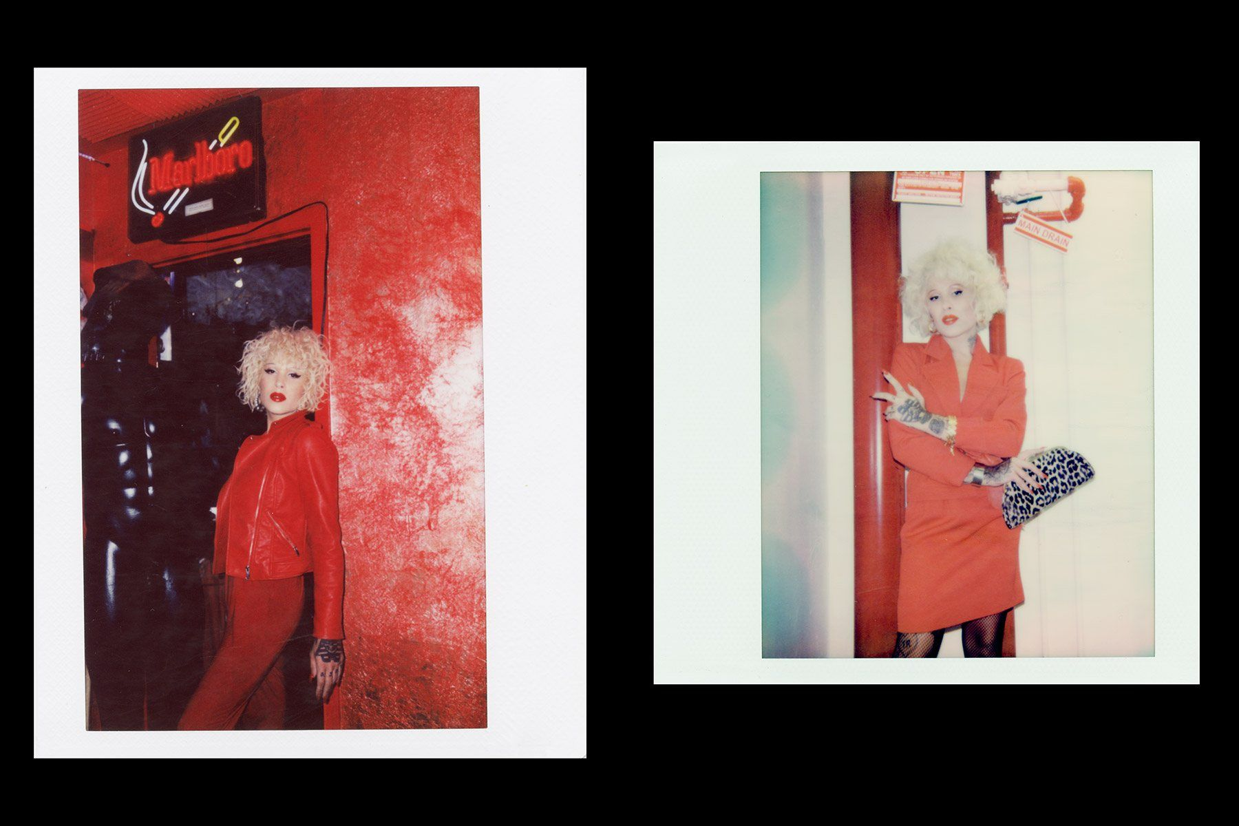 Polaroids of musician Neon Music photographed for Ponyboy magazine New York by Alexander Thompson.