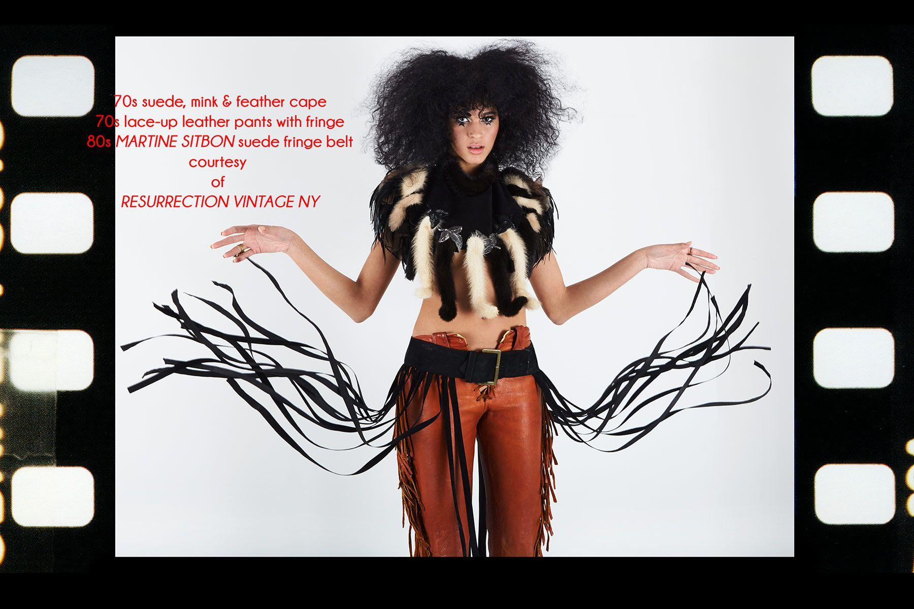 Model Karina Ramirez photographed for Ponyboy magazine editorial