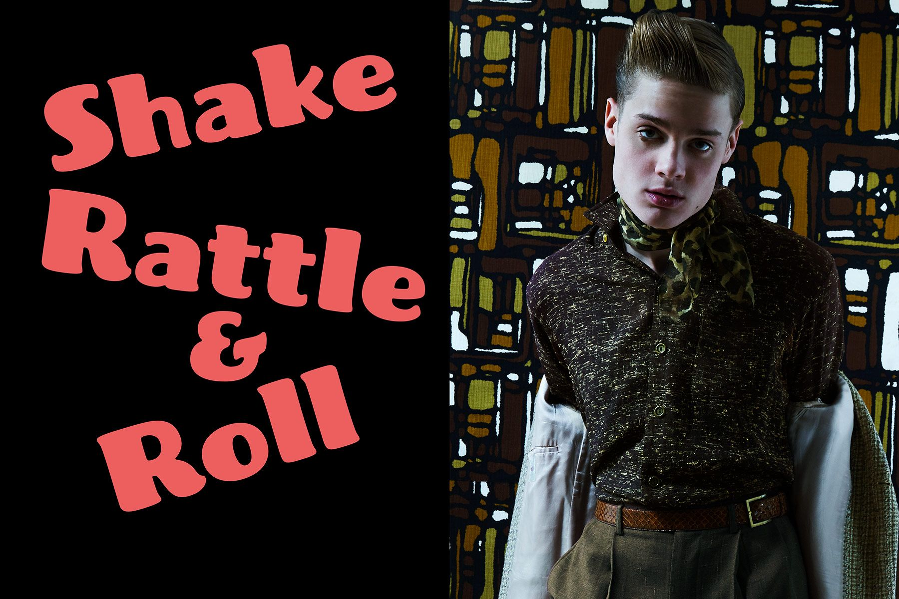 Shake Rattle & Roll. Model Jake Lauria photographed by Alexander Thompson for Ponyboy magazine.