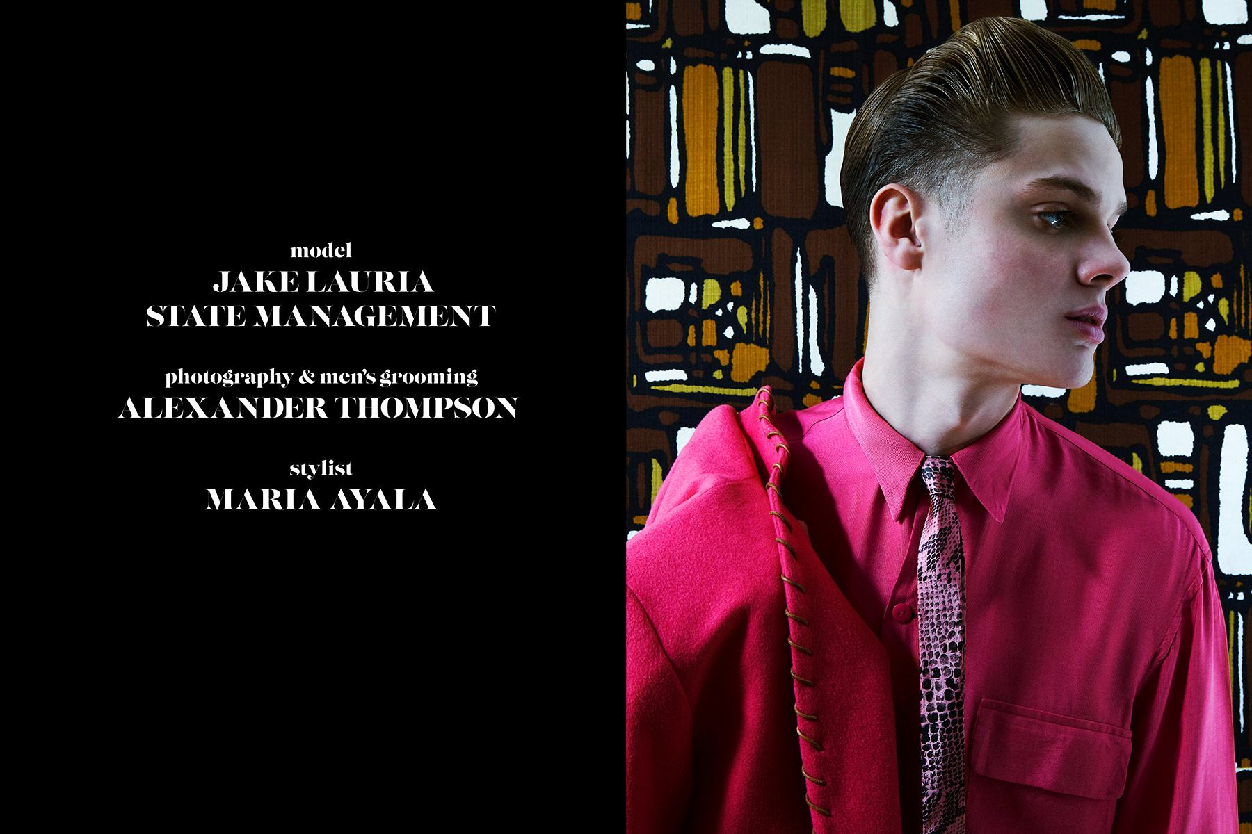 Model Jake Lauria photographed by Alexander Thompson for Ponyboy magazine rockabilly editorial.