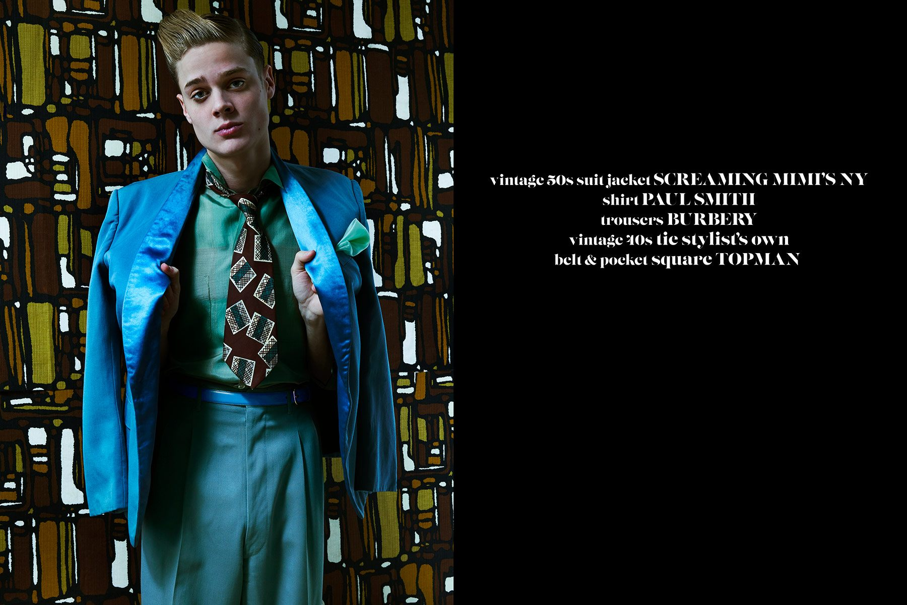 Male model Jake Lauria photographed by Alexander Thompson for Ponyboy magazine.