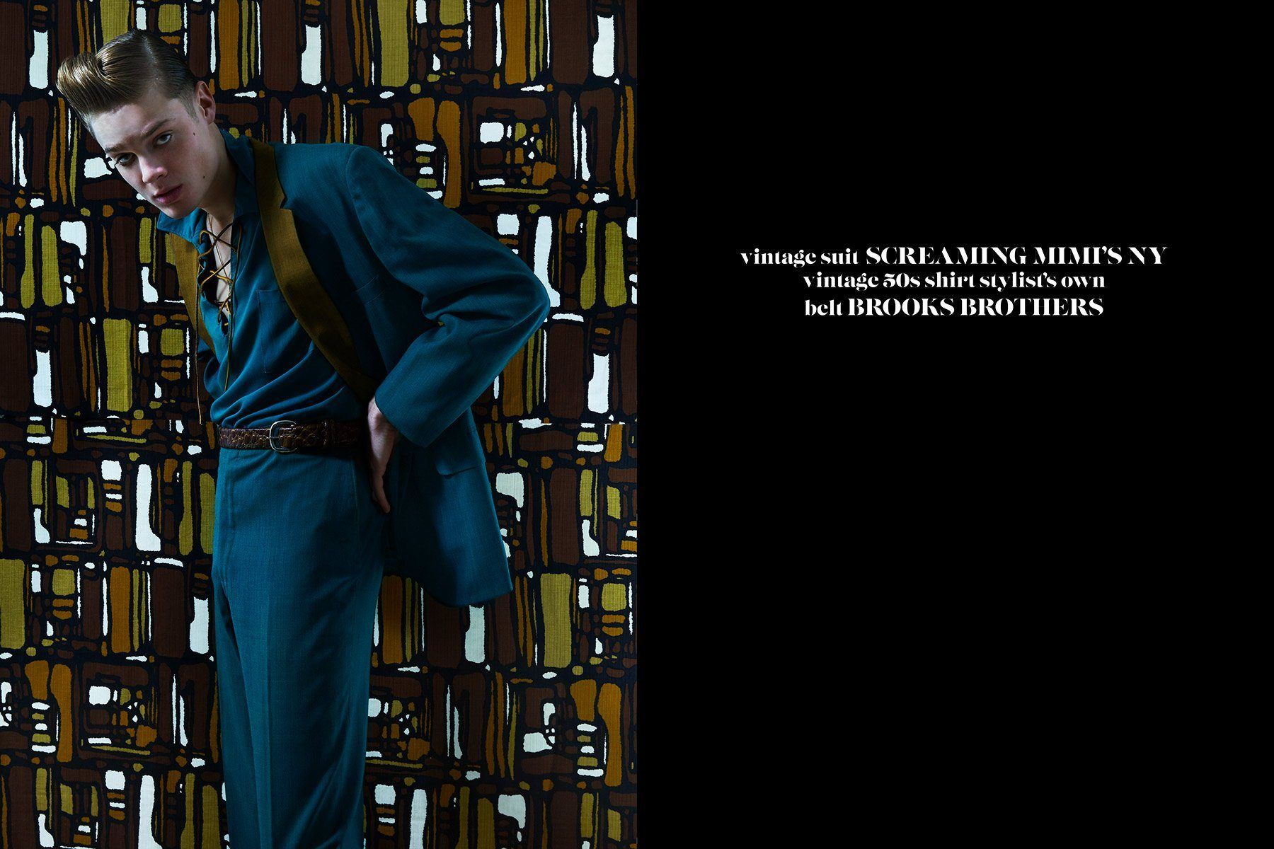 Male model Jake Lauria for Ponyboy magazine by Alexander Thompson.