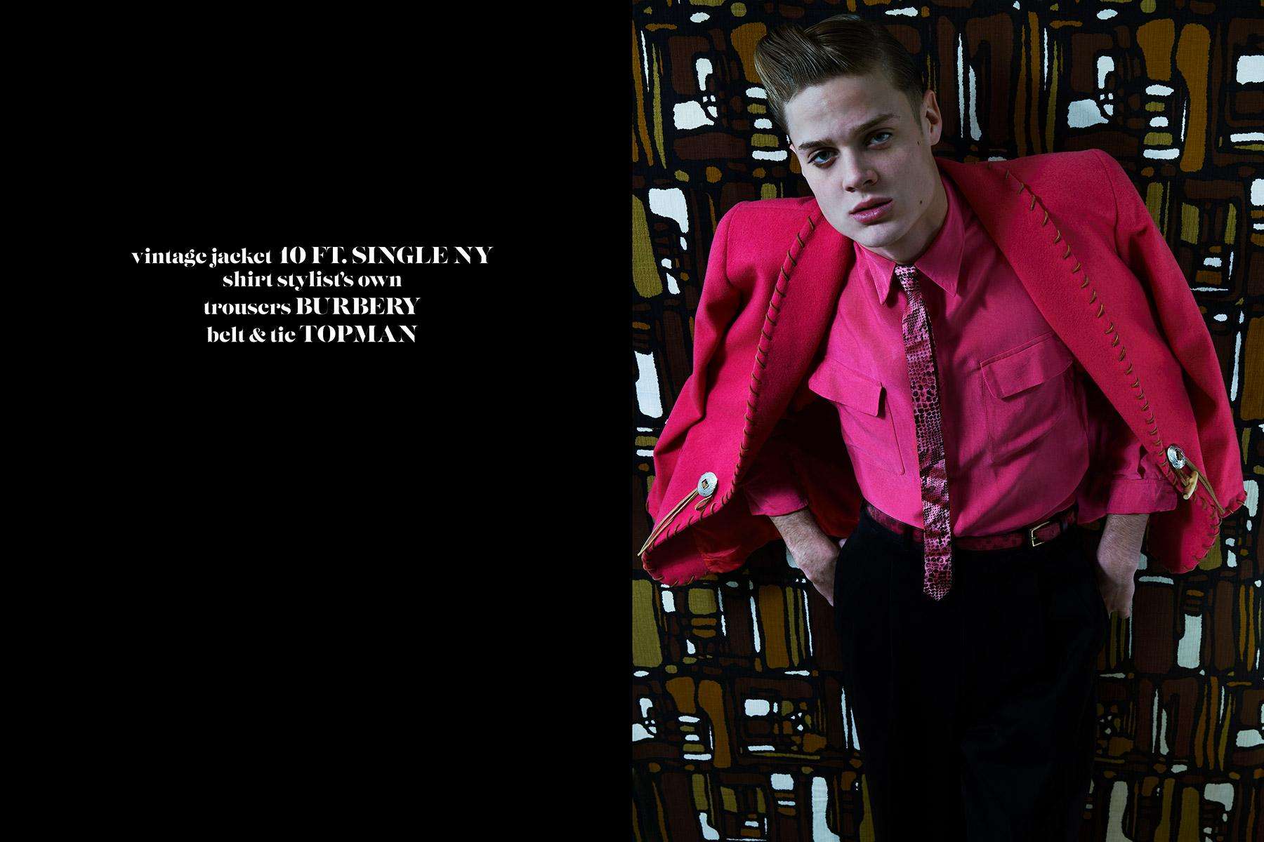 Model Jake Lauria photographed for Ponyboy magazine 50s editorial