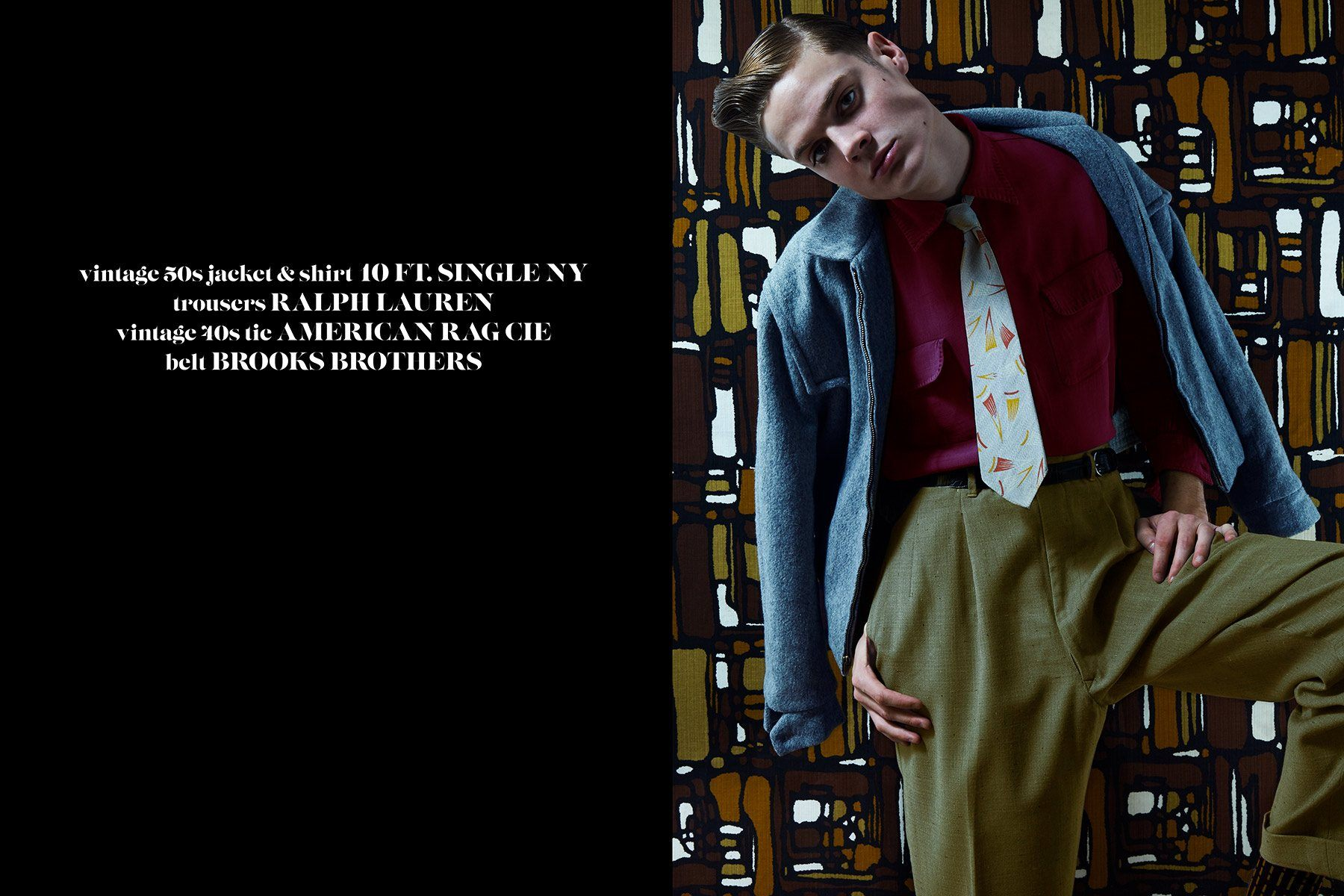 Jake Lauria from State Model Management for Ponyboy magazine 50s editorial. Photography by Alexander Thompson.