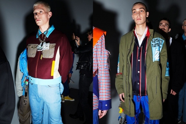 Male models backstage at the Landlord collection. Autumn/Winter 2019. Photography by Alexander Thompson for Ponyboy magazine.