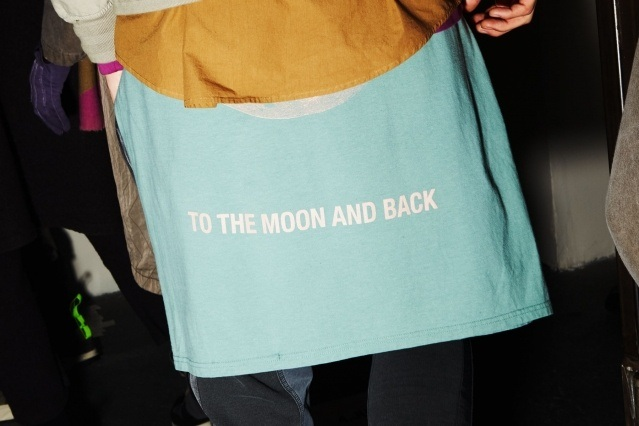 """To The Moon And Back"" Robert Geller t-shirt for A/W 2019. Photography by Alexander Thompson for Ponyboy magazine."