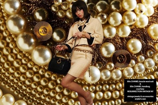 Model Megan Otnes from Wilhelmina NY wears vintage Chanel for Ponyboy magazine. Photography by Alexander Thompson.