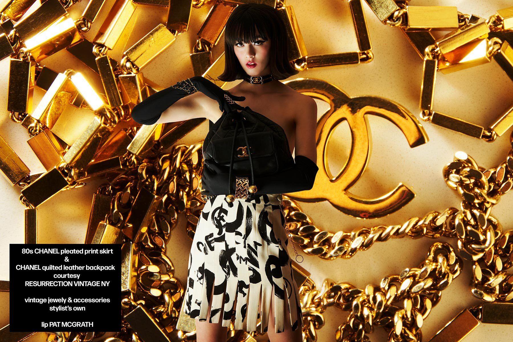Wilhelmina model Megan Otnes in vintage Chanel for Ponyboy magazine. Photography by Alexander Thompson.