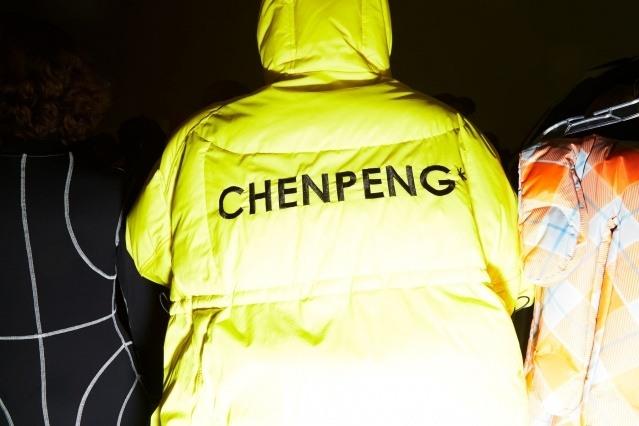 Back of a coat at Chenpeng for Autumn/Winter 2019. Ponyboy magazine.