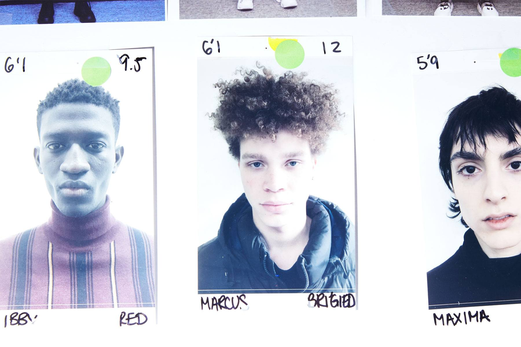 Model's headshots backstage at the Chenpeng Autumn/Winter 2019 collection. Ponyboy magazine.