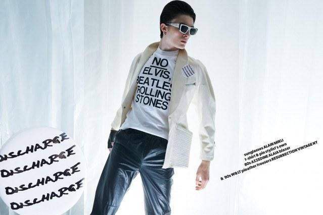 Matthew Bartow in Neat Neat Neat! menswear editorial for Ponyboy magazine. Photography by Alexander Thompson.