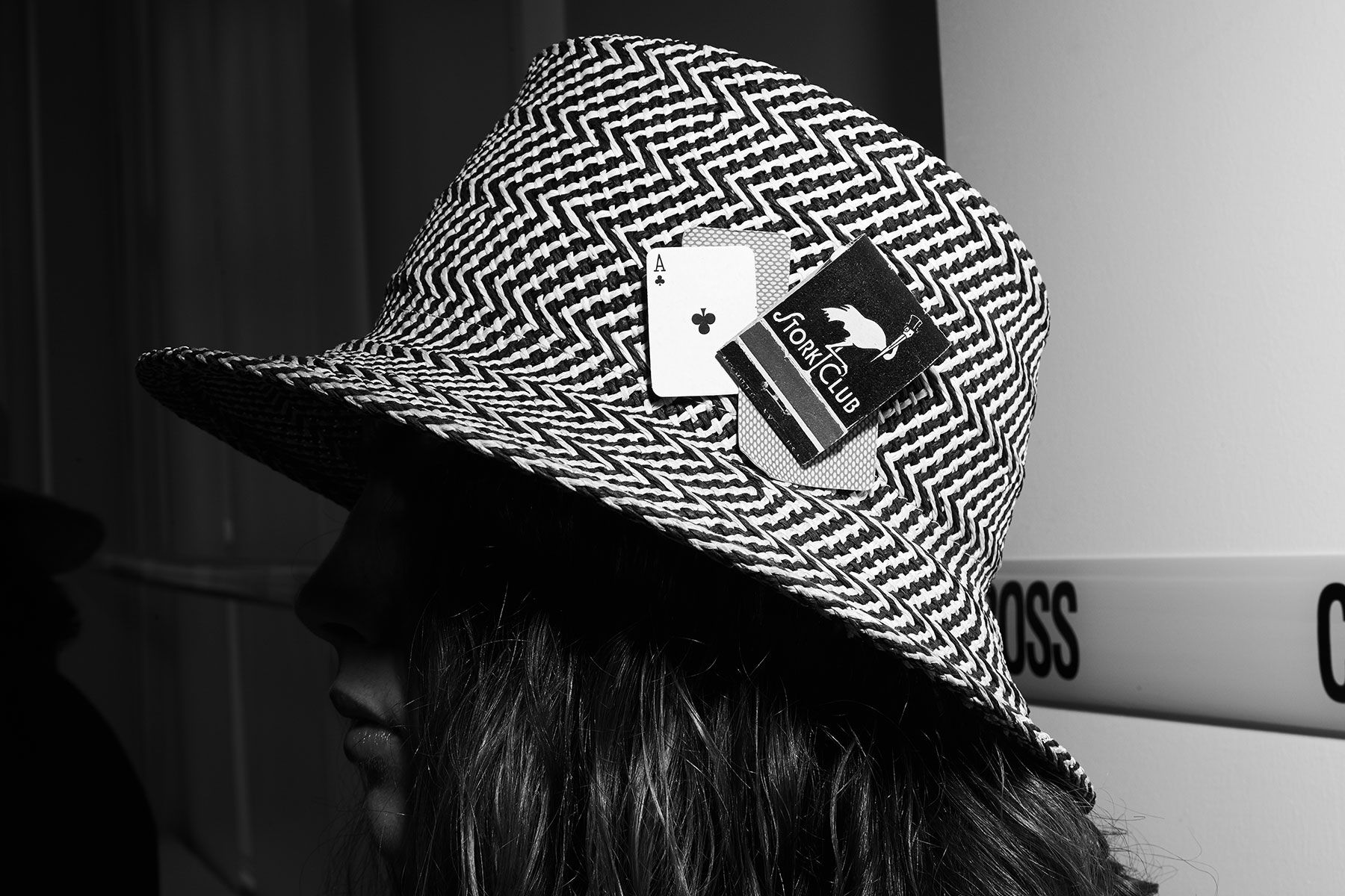Hat by Rod Keenan New York, backstage at David Hart for Spring 2020. Photography by Alexander Thompson for Ponyboy magazine.